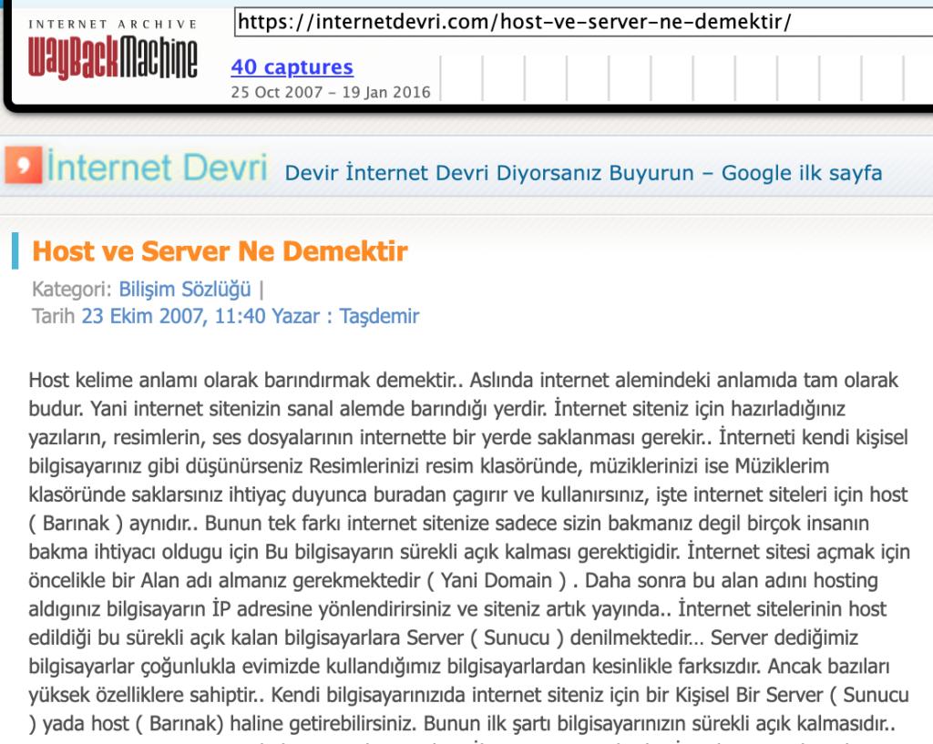 host Server ne demek